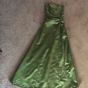 Beautiful sparkly green dress!